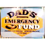 Dads Emergency Fund Vintage Tin Moneybox- Small.