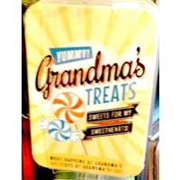 Grandma's Treats Vintage Tin- Small.
