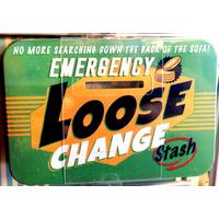 Emergency Loose Change Stash Vintage Tin Moneybox- Small.