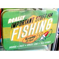 Fishing Vintage Tin- Small.