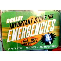 Emergencies Vintage Tin- Small.