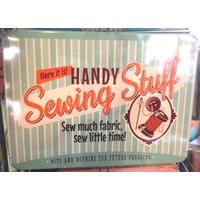 Handy Sewing Stuff Vintage Tin- Large.