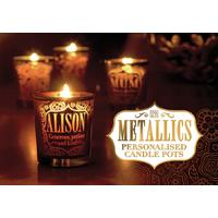 H&H Metallic Personalised Candle Pots (Names and Generic Titles)