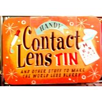 Handy Contact Lens Tin Vintage Tin- Small.