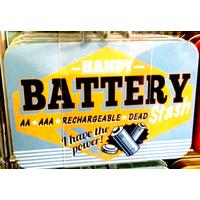 Handy Battery Stash Vintage Tin- Small.