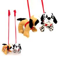 Spotted Dog On A Lead Soft Toy.