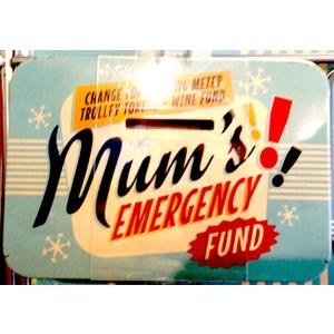 Mum's Emergency Fund Vintage Tin Moneybox