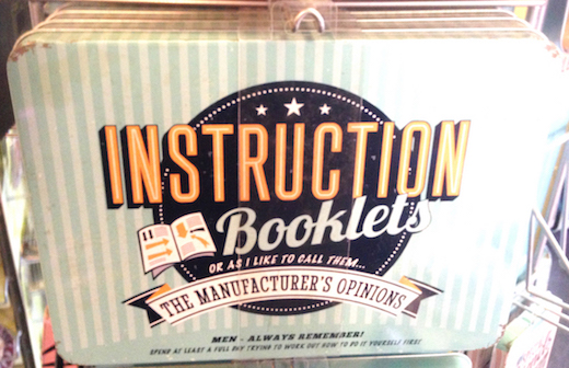 Instruction Booklets Vintage Tin- Large.