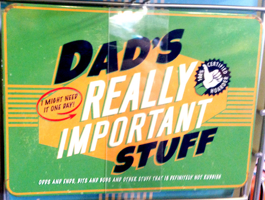Dad's Really Important Stuff Vintage Tin- Large.