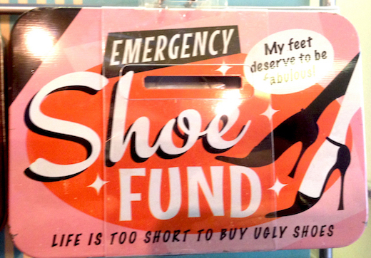 Emergency Shoe Fund Vintage Tin Moneybox- Small.