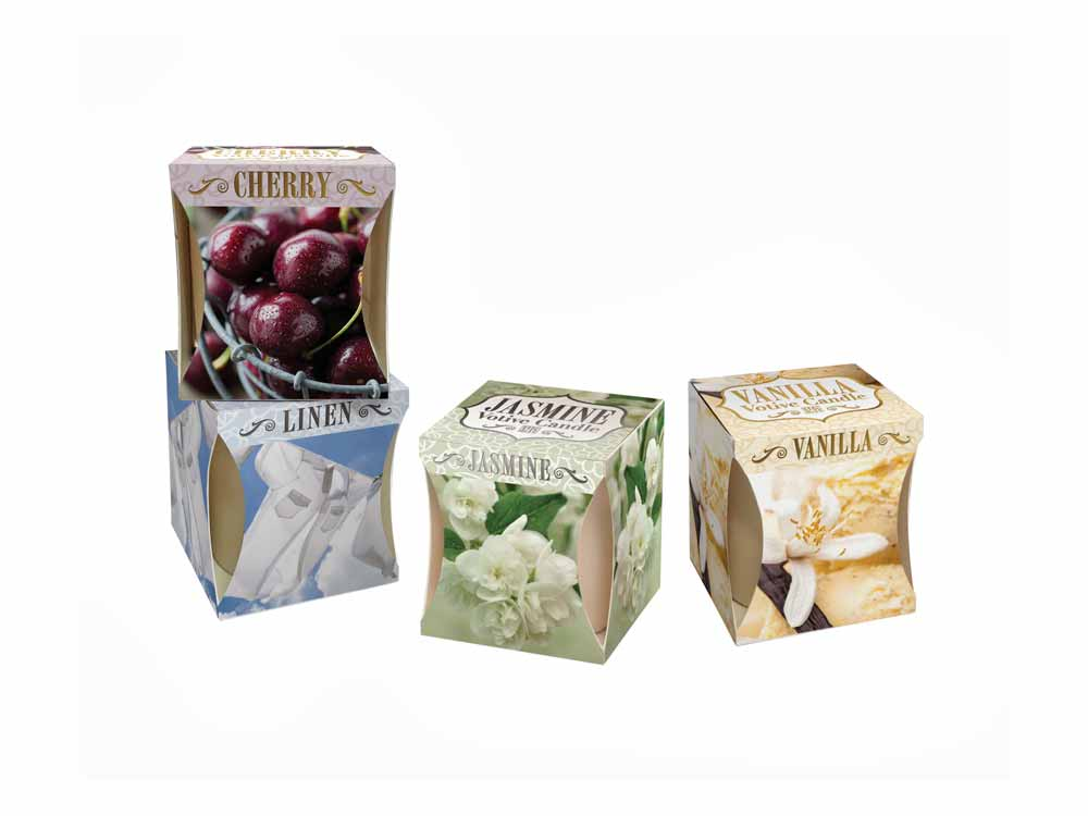 Scented candles for Metallic Candle Pots- Cherry, Jasmine, Linen