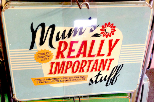 Mum's Really Important Stuff Vintage Tin- Large.