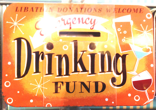 Emergency Drinking Fund Vintage Tin Moneybox- Small.