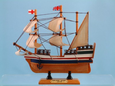 The Golden Hind Model Ship 20cm