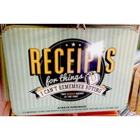 Receipts Vintage Tin- Large.