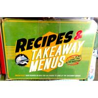 Recipes & Takeaway Menus Vintage Tin- Large.