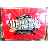 A Place For Memories, Keepsakes Vintage Tin- Large