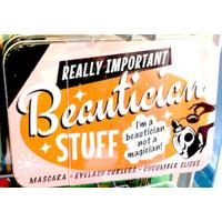 Beautician Vintage Tin- Small.