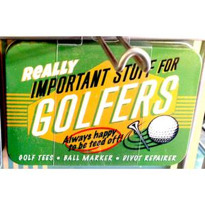 Golfer Vintage Tin- Small.
