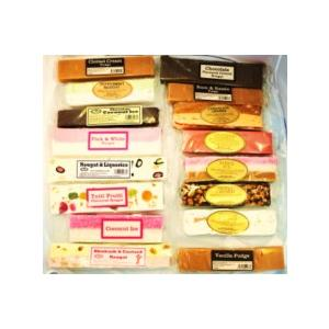 Selection of Flavoured Nougats, Fudges, Coconut Ice and Nutty Cr